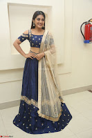 Niveda Thomas in Lovely Blue Cold Shoulder Ghagra Choli Transparent Chunni ~  Exclusive Celebrities Galleries 045.JPG