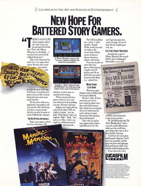 lucasfilm games maniac mansion ad