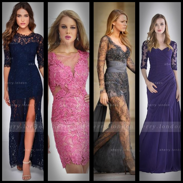#lace prom dresses