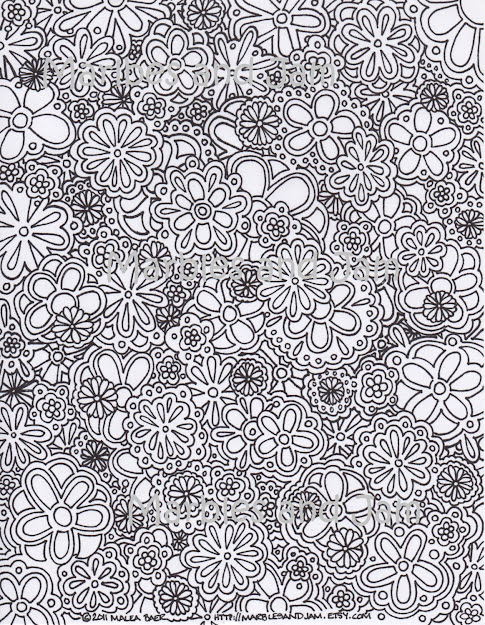 Mindfulness Coloring Pages Pesquisa Do Google Coloring For On Coloring Pages  For Adults Abstract Flowers