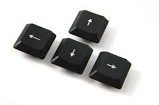 setas do teclado