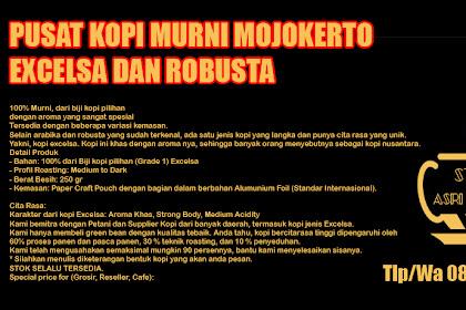 Grosir Kopi Excelsa dan Robusta di Mojokerto 085733742334