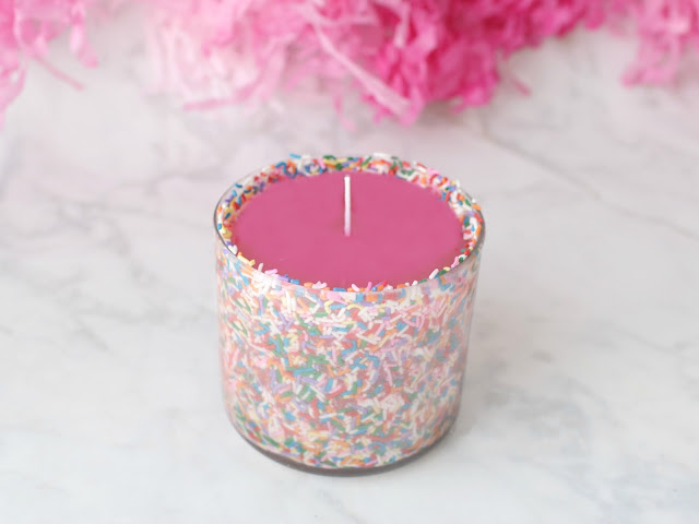 Pink Candle Tin Container