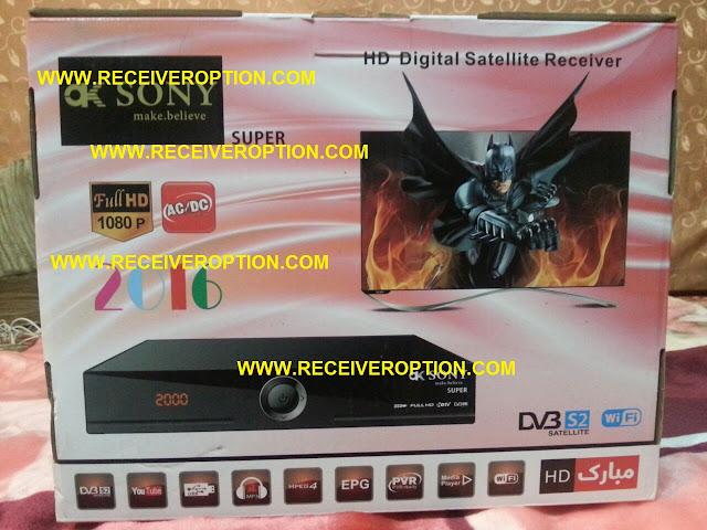 OK SONY SUPER HD RECEIVER CCCAM OPTION SOFTWARE