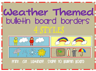 weather themed bulletin board border