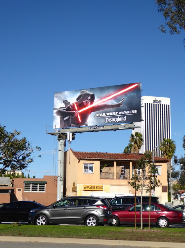 Star Wars Awakens Disneyland billboard