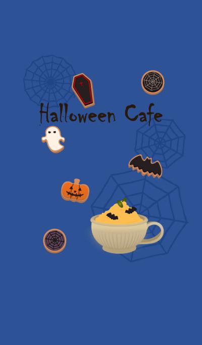 Halloween cafe + marine blue [os]