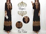 Gamis Hitam Bordir SOLD OUT
