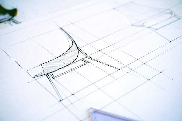 Design of a chair, precise drawing