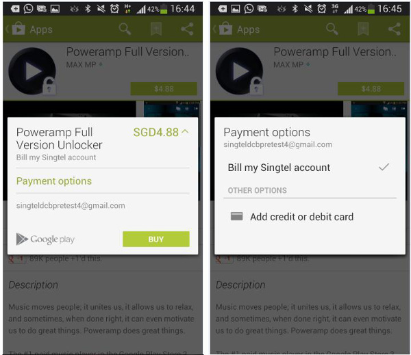SingTel to offer direct Carrier Billing for Google Play from