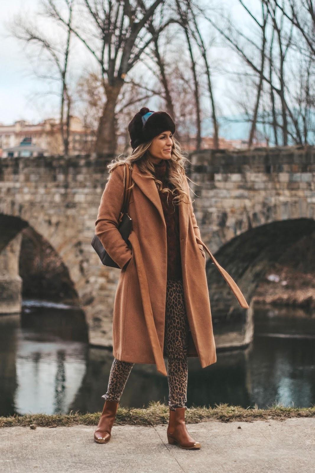 abrigo camel largo