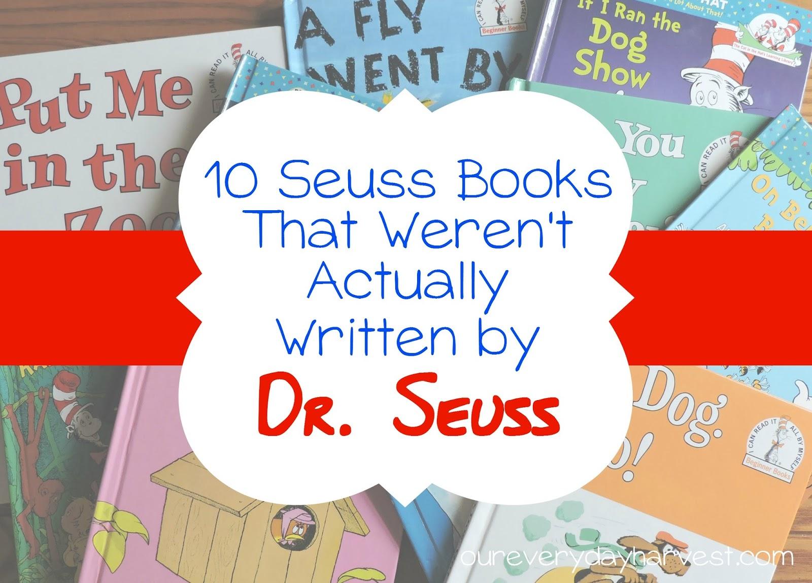10 seuss books that weren u0027t actually written by dr seuss our