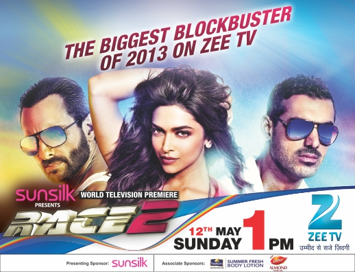 Watch Race 2 New Blockbustor Movie on Zee TV