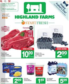 Highland Farms Flyer Start Fresh valid June 15 - 21, 2017