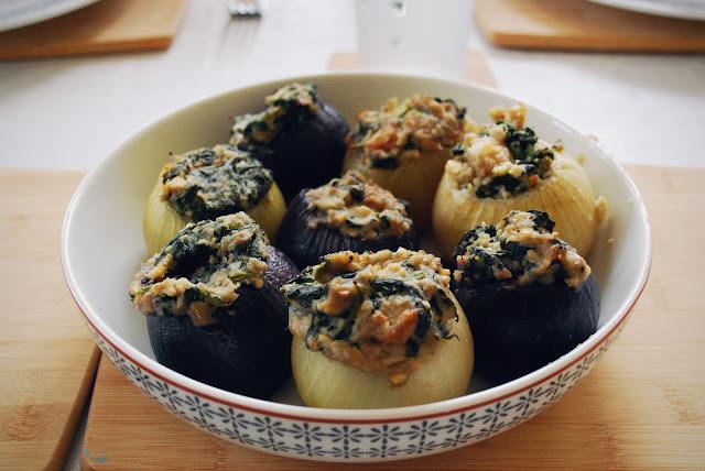 Stuffed onions - vegetarian gluten-free