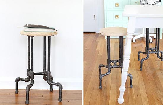 kursi minimalis menggunakan pipa besi bekas