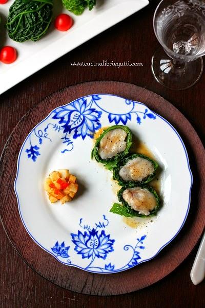 involtini verza rana pescatrice ricetta