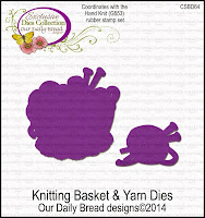 ODBD Custom Knitting Basket and Yarn Dies