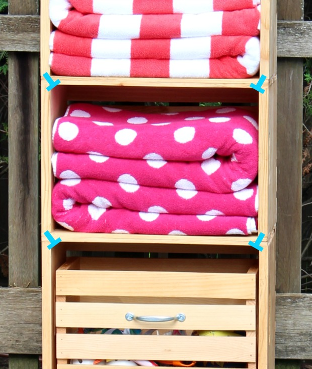 diy storage unit using crates