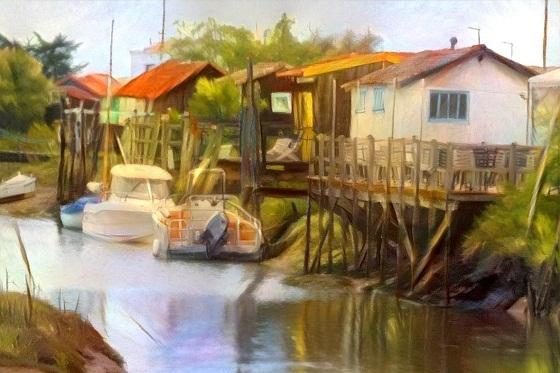 edit foto online lukisan seni