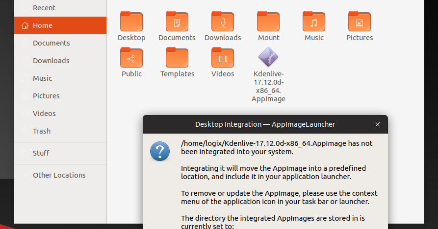 Easily Run And Integrate AppImage Files With AppImageLauncher