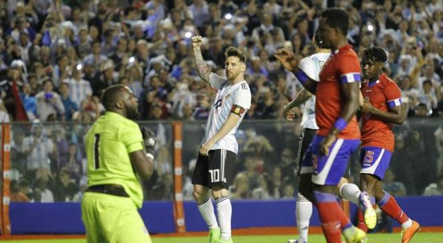 argentina 4 haiti 0 - seleccion argentina de futbol