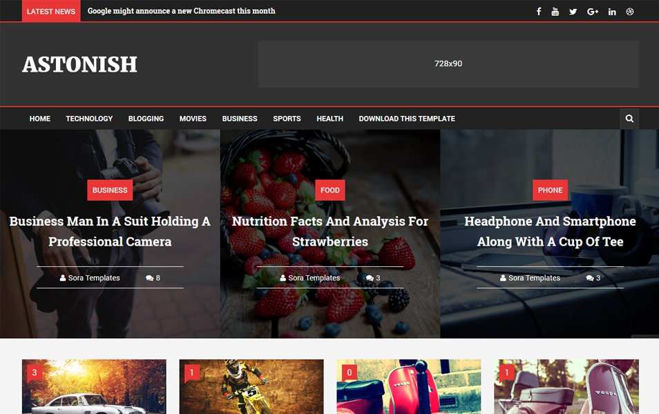 Astonish Responsive Blogger Template