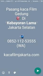 Bengkel Kaca Film Gedung & Mobil Kebayoran Lama Jakarta Selatan