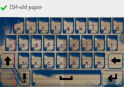 paper keyboard skin