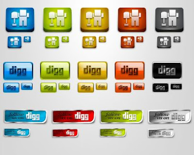 Digg Icons And Buttons Pack, Icons, Social Bookmarks Icons