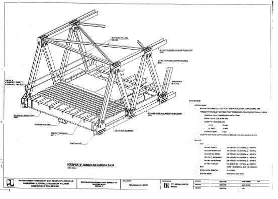 Gambar standar rangka baja bangunan atas jembatan kelas A