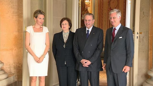 Queen Mathilde received Jacques Rogge, former President of the IOC, newmyroyals