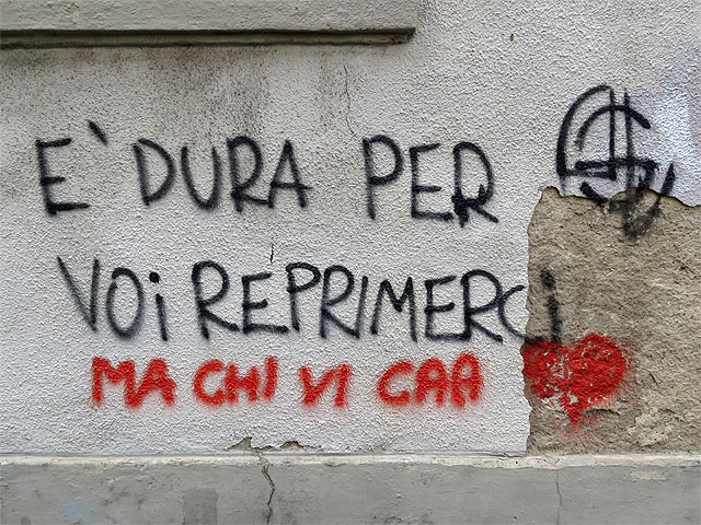 Graffiti, Via Fiorenza, Livorno