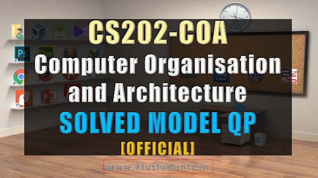 CS202 COA SOLVED Official model question paper WITH ANSWERS