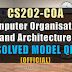CS202 COA Solved Official Model Question Paper
