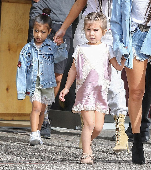 Kim K and North West, Kourtney and Penelope step out in style