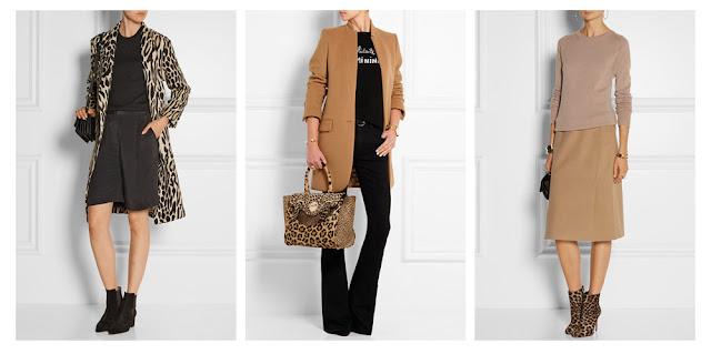 Пальто, сумка и ботильоны с леопардовым принтом