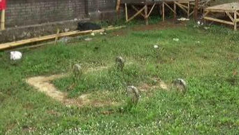 Penampakan 2 makam di area Padepokan Dimas Kanjeng