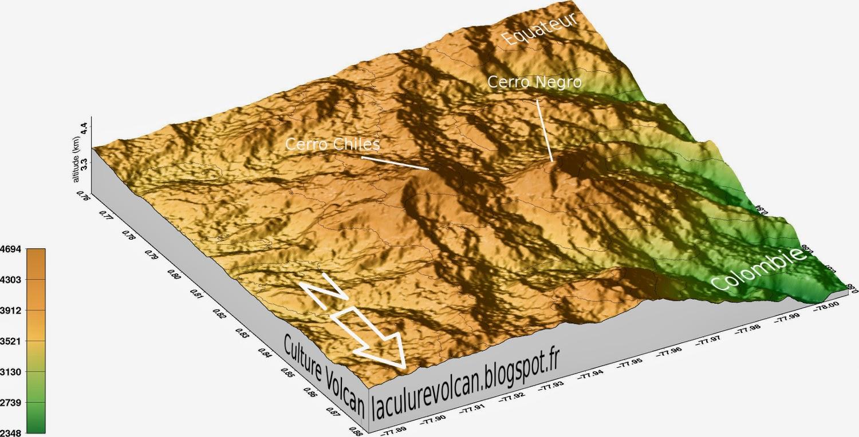 Modèle 3D du volcan Cerro Negro de Mayasquer