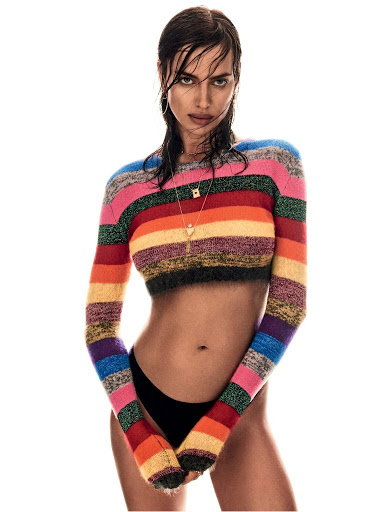 Irina Shayk hot model photo shoot for Vogue Brazil Magazine