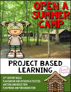 "Click here to grab a Project Based Learning activity called ""Open a Summer Camp"". Kids will love it!"