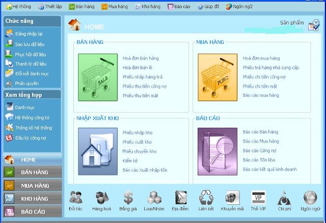Phần mềm bán hàng tạp hóa - BH vĩnh viễn