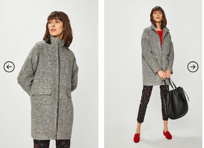 Palton dama gri de iarna de calitate calduros si frumos Medicine