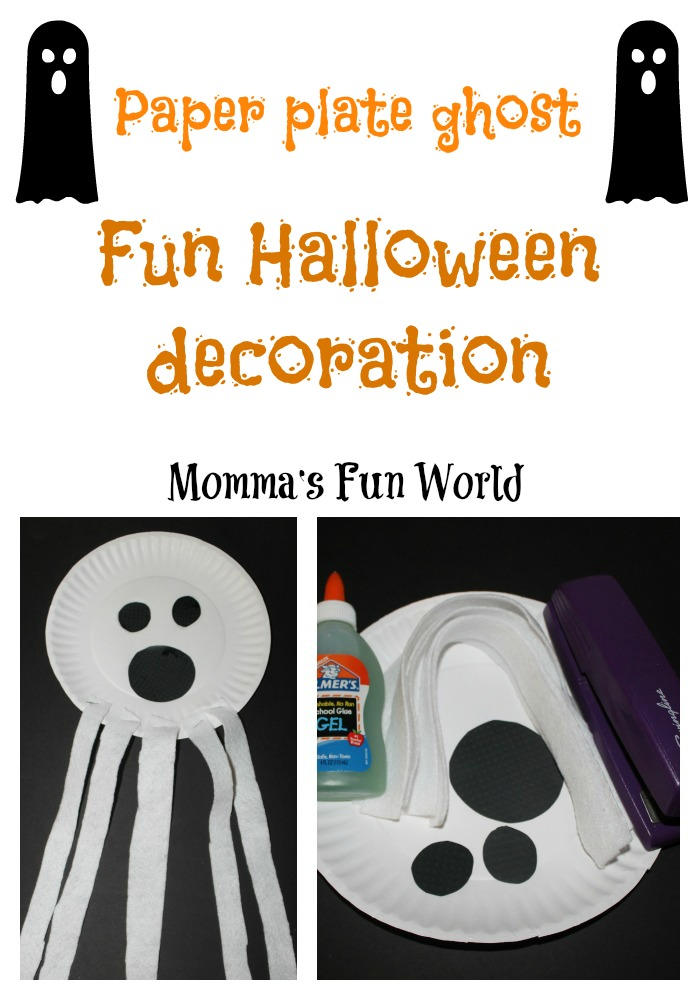 Halloween Craft Paper Plate Ghost
