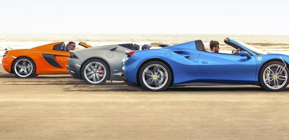 battle of the spiders ferrari 488 spider vs mclaren 650s spider vs lamborghini huracan - Ferrari 488 Vs Lamborghini Huracan