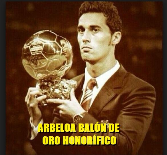 Álvaro Arbeloa Balón de Oro Honorífico 2017