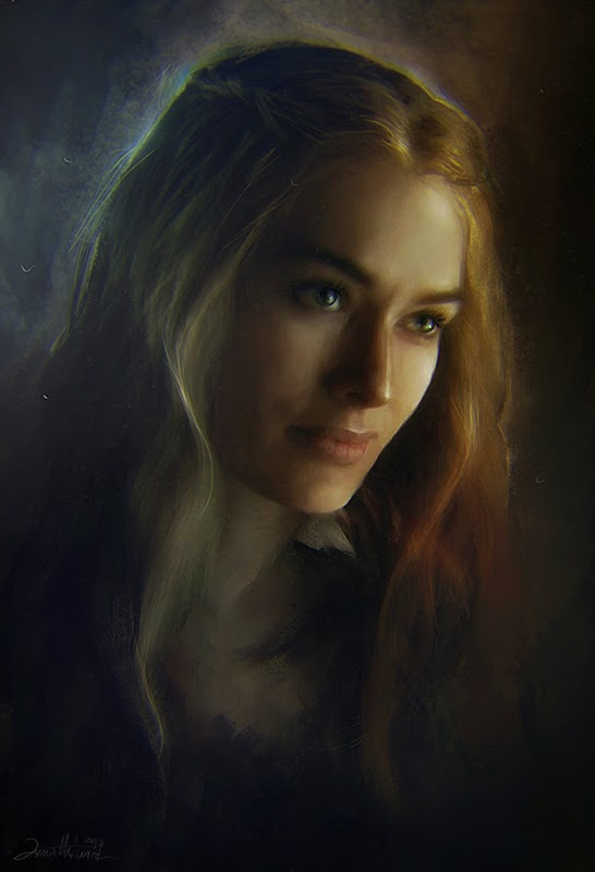 03-Cersei-Lannister-Ania Mitura-GoT-Game-of-Thrones-Digital-Paintings-www-designstack-co