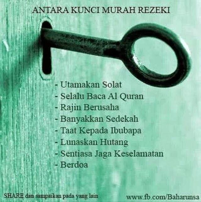 8 Kunci Murah Rezeki!