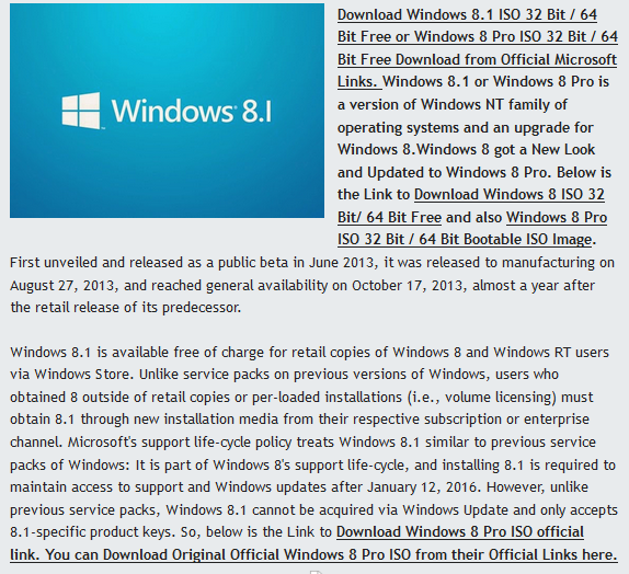 Windows 8/8.1 Pro ISO Full Version Free Download For 32 Bit/64 Bit