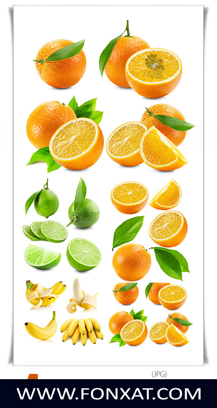 Download picture quality with a variety of fruit, banana, lemon, orange